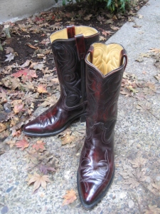 shiny new (used) cowboy boots