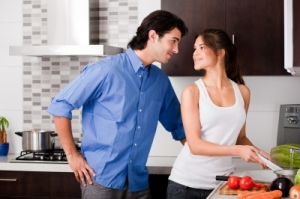 couple in kitchen
