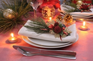 Table set for New Year's celebration