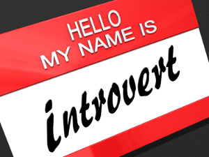 "Hello My Name is ""Introvert"" on a name tag."