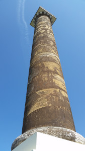The 125-foot Astoria Column stands on a hill and commands a birds-eye view of the city if you're willing to endure the 164 steps to the top. Um ... maybe next time.